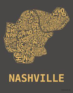 Nashville Hood Print