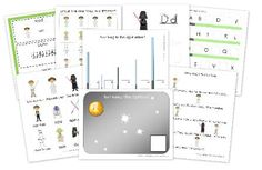 A preschool learning pack for preschoolers with games and activities that contains early learning printables to use when studying about Star Wars. Includes: Star Wars words, beginning sounds, counting, sorting activities and Free Preschool, Preschool Printables, Printable Crafts, Preschool Learning, Preschool Activities, Kids Learning, Printable Star, Teaching, Free Printables