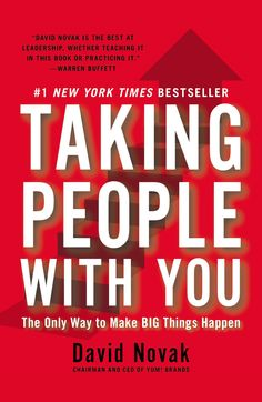 TAKING PEOPLE WITH YOU : THE ONLY WAY TO MAKE BIG THINGS HAPPEN de David Novak. As the CEO of the world's largest restaurant company, with a staggering 1.4 million employees, Novak has spent the last ten years developing a program for creating effective leaders at every level. In this book, he shows exactly how to keep your teams motivated and on track: never stop learning, always celebrate achievement and never tolerate poor performance... Cote : 4-1 NOV