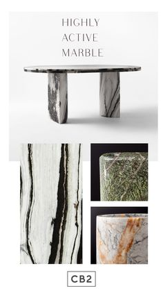 Bring highly active marble into your home design with statement furniture and modern decor pieces Marble Furniture, Dining Room Furniture, Marble Pillar, Leather Bed, Glass Dining Table, Modern Decor, Area Rugs, House Design, Home Decor