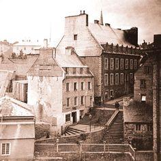 rue sous le cap vers 1900 ville de qu bec ville quebec canada pinterest. Black Bedroom Furniture Sets. Home Design Ideas