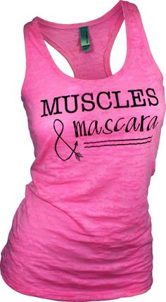mascara shirt. woman tops with sayings. trendy plus size clothing. trendy womens clothing. muscles and mascara. workout tank. gym tank. tank by missFITTE on Etsy https://www.etsy.com/listing/230780988/mascara-shirt-woman-tops-with-sayings