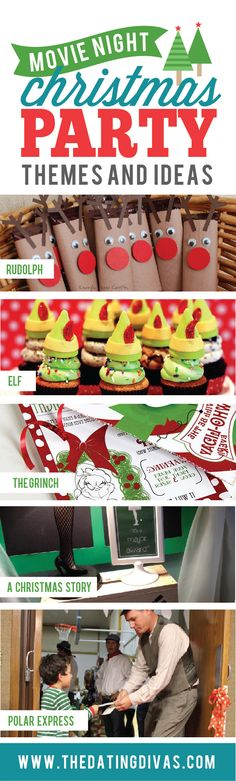 Awesome movie Christmas party themes!!  THESE ARE TO DIE FOR!!