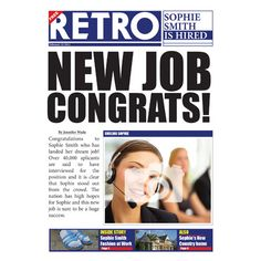 Newspapers & Magazines - QuickClickCards - Your design, your message Newspaper Layout, High Hopes, Your Message, New Job, Magazines, Congratulations, Interview, Greeting Cards, Friday