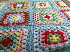 My Cath Kidston inspired granny square blanket
