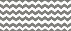 Gray and White Chevron Full Headboard Wall Decal by WallDressedUp