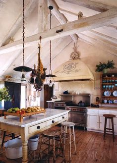 I like a kitchen that has style. I have seen huge kitchens loaded to the rafters with all the latest counters and appliances and back ...