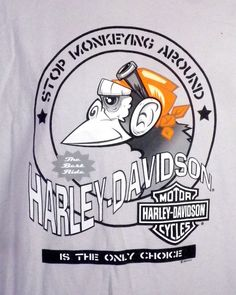 d3ba6afb euc Harley Davidson Motorcycles T-Shirt Biker Bellmore New York 2005 Monkey  2XL