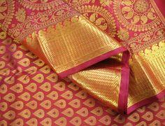 Merlot Red Ornate Design Pure Kanchipuram Silk
