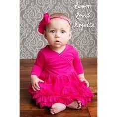 Lemon Loves Layette Jada Hot Pink Dress