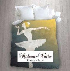 housse de couette tissu imprim ballerine danseuse toile danse chausson tissu ameublement. Black Bedroom Furniture Sets. Home Design Ideas