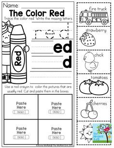 Color Word Practice and TONS of other printable for preschool to 3rd Grade!
