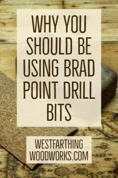 Brad point drill bits are a game changer, and they are a very useful type of drill to have in your shop if you are making larger diameter holes. This guide will show you why. Woodworking Education, Woodworking Books, Drilling Holes, Drill Press, Game Changer, Book Publishing, Being Used, Make It Simple, Larger