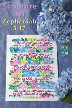 Zephaniah - Printable Christian Wall Art, Bible Greeting Cards, and Note Cards Christian Cards, Christian Gifts, Christian Apparel, Bible Verse Wall Art, Scripture Art, Watercolor Hand Lettering, Beautiful Calligraphy, Printable Art, Printables