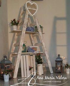 Ladder Decor, Home Decor, Financier, Table Decorations, Houses, Lanterns, Quartos, Wood, Home