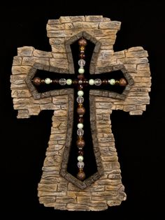 Crosses....this would look awesome as the centerpiece of a stone fireplace