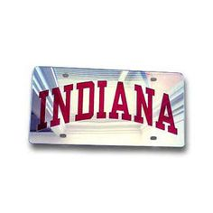 Indiana Silver Mirrored License Plate   T.I.S. College Bookstore @ Indiana University