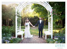Lewis Ginter Botanical Garden wedding in Grace Arents Garden.