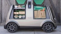 On Thursday, American grocery giant Kroger announced teaming up with the autonomous vehicle startup Nuro to launch driverless delivery system in the US. This latest retail-tech partnership throws a spotlight on the last-mile delivery of grocery items. Go Kart, Delivery Robot, Sustainable Transport, Last Mile, Mobile Robot, E Scooter, Vans, High Tech Gadgets, Self Driving