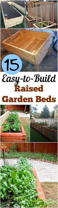 Garden Planning Raised Garden Beds that are Easy to Make- Great tips, tricks and tutorials to make your own! - Raised Garden Beds that are Easy to Make- Great tips, tricks and tutorials to make your own! Dream Garden, Home And Garden, Easy Garden, Diy Garden Bed, Garden Trellis, How To Garden, Inside Garden, Potager Garden, Veg Garden