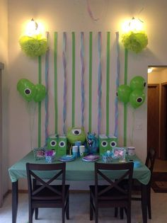 Monsters inc party on pinterest monster inc party for Table decor international inc