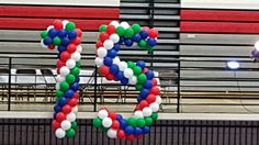 Balloons, Display, Cake, Desserts, Food, Globes, Floor Space, Tailgate Desserts, Deserts