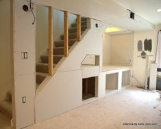 Hanging Drywall - Building a Nook Under The Stairs
