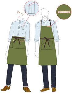 cool restaurant uniform ideas - Google Search                                                                                                                                                                                 More