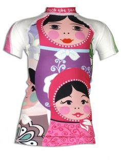 Why can't this shirt with SPF be in adult sizes?! Russian doll shirt