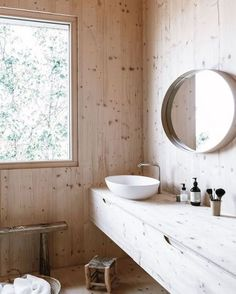 #homedecor Decorative Bathroom Mirrors, Home Design, Interior Design, Wooden Cottage, Minimal Bathroom, Cottage Design, Modern Country, Types Of Houses, Bathroom Inspiration