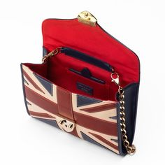 Brit Manhattan Clutch with Chain from Aspinal of London