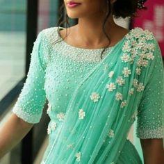 Modern Blouse Designs for Your Gorgeous Look - Fashion Indian Blouse Designs, Modern Blouse Designs, Saree Blouse Neck Designs, Bridal Blouse Designs, Blouse Patterns, Lehenga, Lehanga Saree, Silk Sarees, Kerala Engagement Dress