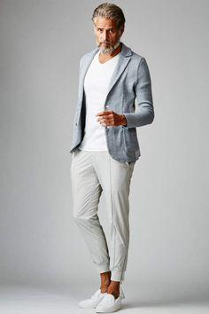 Casual Clothes For Men Over 50, Fashion For Men Over 50, Older Mens Fashion, Denim Fashion, Blazer Outfits Casual, Stylish Mens Outfits, Italian Mens Fashion, Smart Casual Men, Blazers For Men