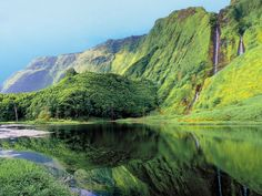 Paisagem natural na Ilha das Flores, Açores