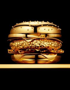 Another fabulous gold hamburger pin......steam punk Big Mac.  Perfect!