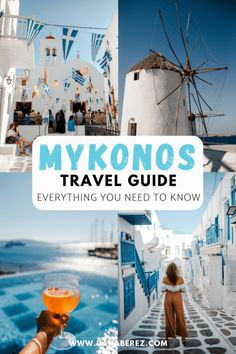 In this Mykonos Travel Guide, I will cover everything you need to know visiting this popular Greek Island including where to stay and the top things to do in Mykonos. Mapping out how to plan your Mykonos Greece Vacation in Greece Itinerary, Greece Destinations, Travel Destinations, Greece Vacation, Greece Travel, Greece Trip, Thailand Travel, Japan Travel, Europe Travel Guide