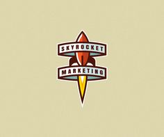 Old style feeling. Love the shading on only one side of the rocket/title. --Skyrocket Marketing by Blazej Jaraczewski