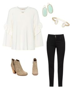 """""""Don't let them get too close too quick"""" by maggie-elizabetht ❤ liked on Polyvore featuring Tory Burch and Kendra Scott"""