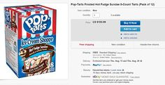 Are there riches hidden in YOUR refrigerator? From $100 Pop Tarts to $500 sodas, how much you could be making by selling discontinued foods on eBay  Many people are aware that rare toys can command high prices on auction sites, but they may not think of selling food  Crystal Pepsi, Pop Tarts and Surge soda are among the highest-priced items    Read more: http://www.dailymail.co.uk/femail/article  Discontinued flavors: Frosted Hot Fudge Sundae Pop Tarts are selling on eBay for $103.09 per…