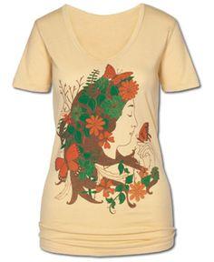 SoulFlower-NEW! Mother Nature Organic Women's T-Shirt-$26.00 #liviniseasy @Soul Flower