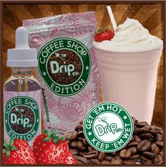 Frappberry E Liquid - The Drip Company Coffee Shop Edition #vape #vaping #eliquid