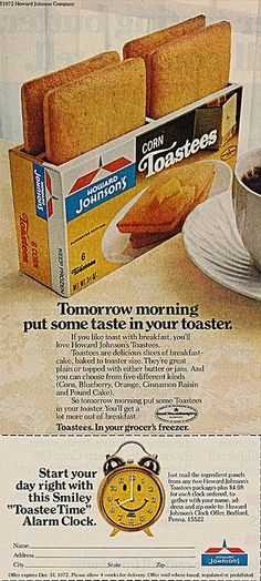 Howard Johnson's Corn Toasties - one of my favorite childhood breakfast choice.