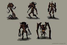 Scientist robot concept designs