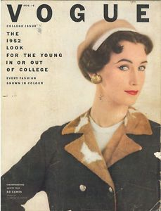 Vogue US August 1954   #vintage #magazine #vogue #us #50s #style