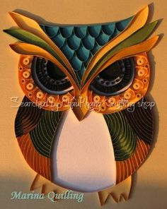 This would be nice to hang up Quilling Work, Paper Quilling Flowers, Origami And Quilling, Quilled Paper Art, Origami Bird, Quilling Paper Craft, Quilling Cards, Owl Crafts, Vinyl Crafts