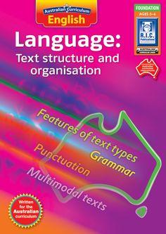 Australian Curriculum English. Language: Text structure and organisation. Foundation level.