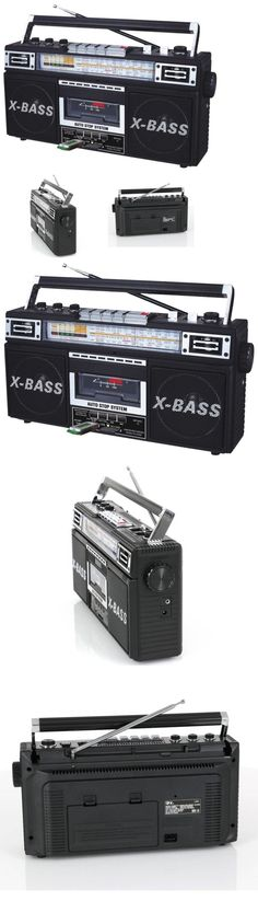 Personal Cassette Players: Portable Boombox Radio Cassette Recorder Player Converter To Mp3 Usb Sd 4 Band -> BUY IT NOW ONLY: $34.66 on eBay!