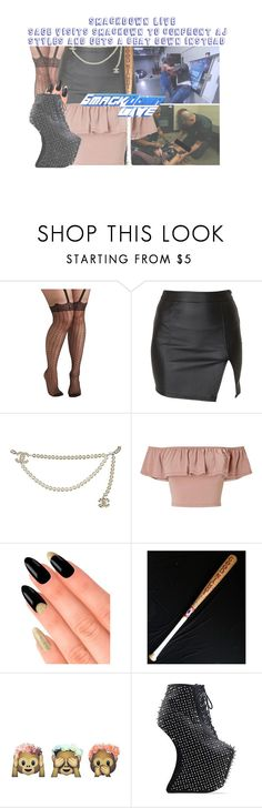 """""""Smackdown Live: Sage invades Smackdown Live to Contront AJ Styles and Gets a Beat Down instead."""" by sage-forever ❤ liked on Polyvore featuring Pretty Polly, Alice In The Eve, Chanel, Miss Selfridge, House of Holland, Jeffrey Campbell, WWE, raw and smackdown"""