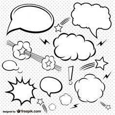 Bolhas de quadrinhos simples definir