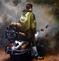 "modbrother: ""A way of life "" Mod Scooter, Lambretta Scooter, Vespa Scooters, Scooter Girl, Mod Music, Df Mexico, Motor Scooters, Raining Men, Mod Fashion"